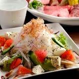 『チーズ豆腐とトマト』サラダ