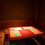 京都の割烹を彷彿とさせる上品な雰囲気。半個室もございます