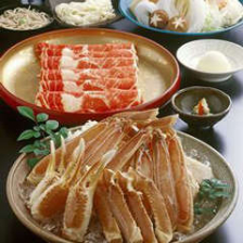 「一番人気」6800円ずわいがに宴会コース(さらに8,000円で寿司も食べ放題)