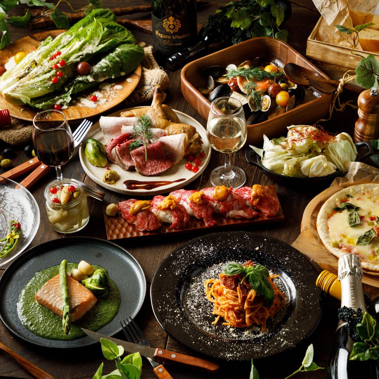赤字覚悟の全100種類食べ飲み放題コースを2480円~