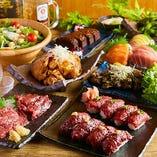 メディアを中心に大注目の肉寿司!