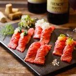 肉寿司五貫盛り合わせ