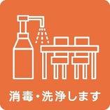 4.設備、器具などの定期的な消毒・洗浄を行います。