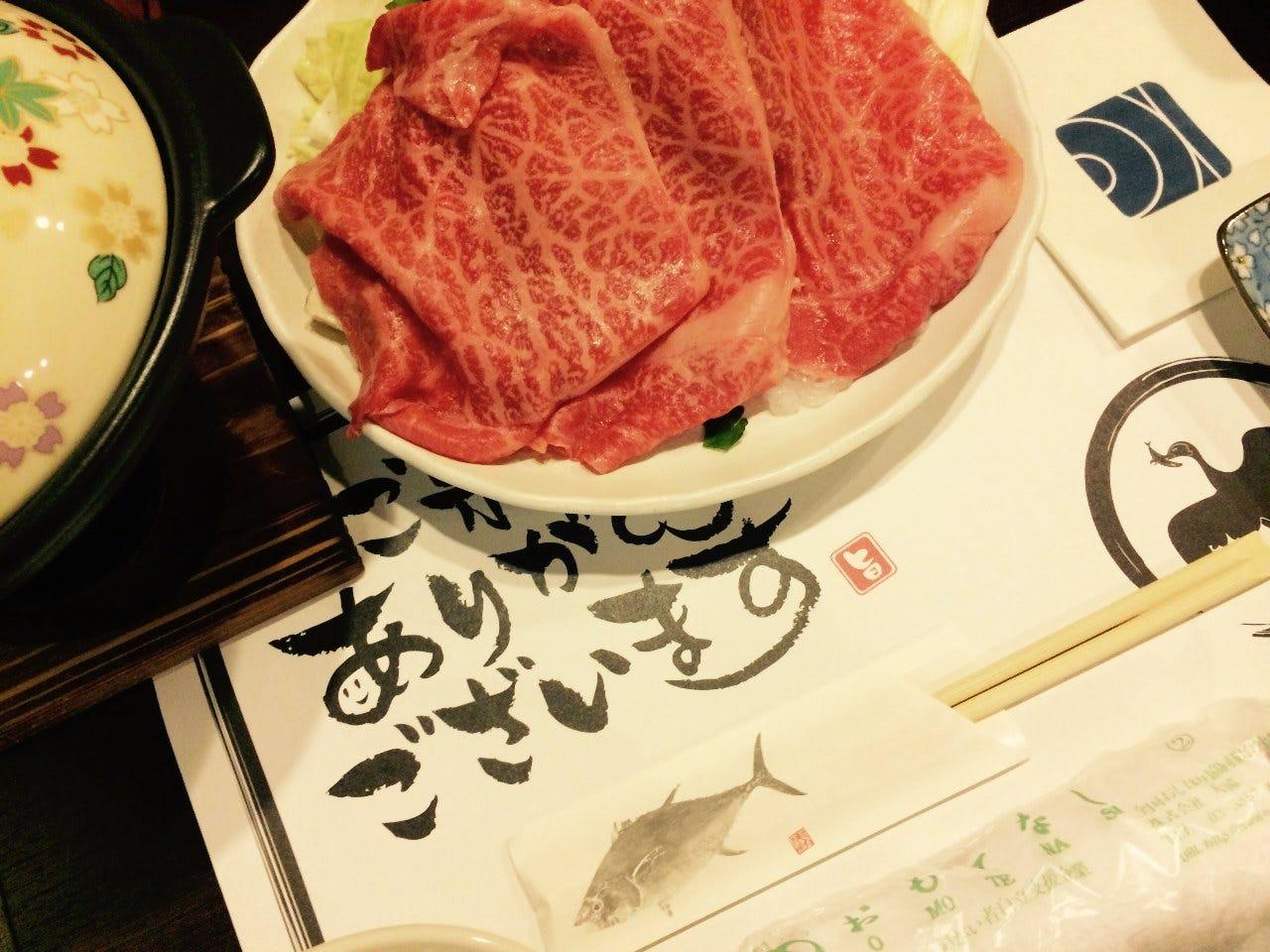 うかい霜降り和牛すき焼き満喫5000円コース☆