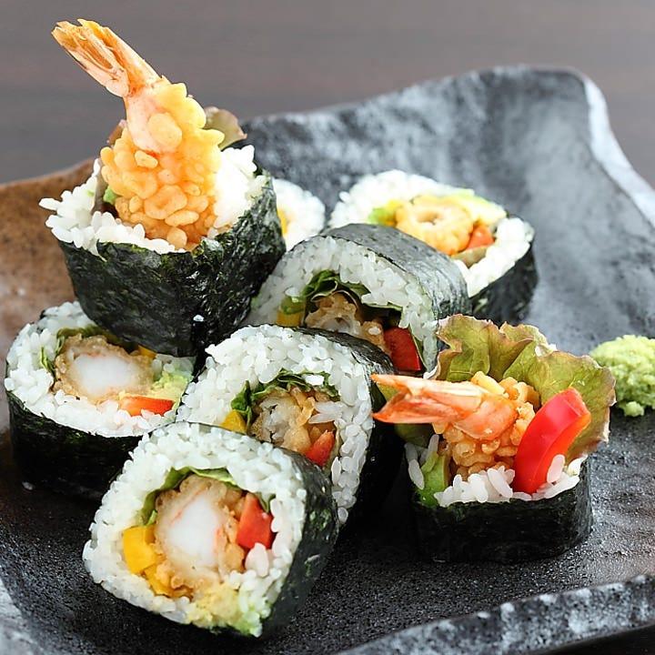 天ぷら巻き寿司セット 850円