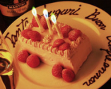 事前予約で誕生日や記念日に 特別デザートをご用意いたします