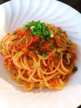 しらすとトマトのスパゲティ