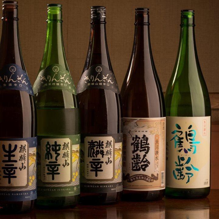 新潟県内各地の地酒をご用意。