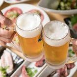 ご宴会は飲み放題付で!美味しいお肉とお酒でカンパーイ♪