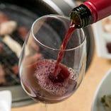 実はソムリエの資格を持つ店主。ワインはメニューに記載している以外に常時数種類をご用意しています。気軽にお尋ねください