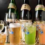 飲み放題は+300円でプレミアムプランに変更可能!ハイボールやカクテル、梅酒など、ラインナップをぐっと増やしてご提供します