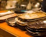 食器はすべて店主の手作り!温かさを感じる色合い。