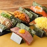 看板メニュー「寿司ドッグ」