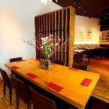 中人数のご宴会に最適なテーブル席