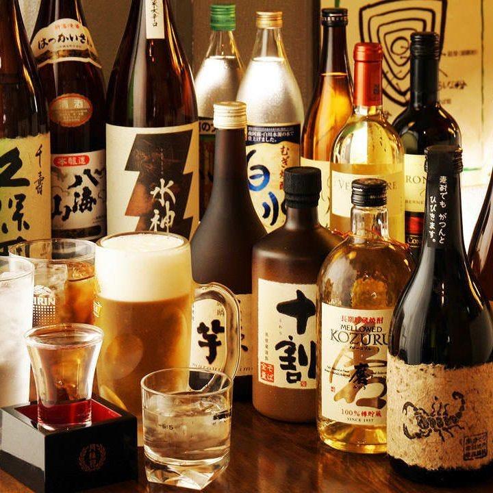 日本酒や焼酎はもちろん甘めのカクテルや果実酒も多数ご用意
