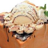 完熟チョコバナナハニトーVer.2.0 当店の一番人気!!あの絶大な人気番組でも取り上げられた最高の一品です!!!