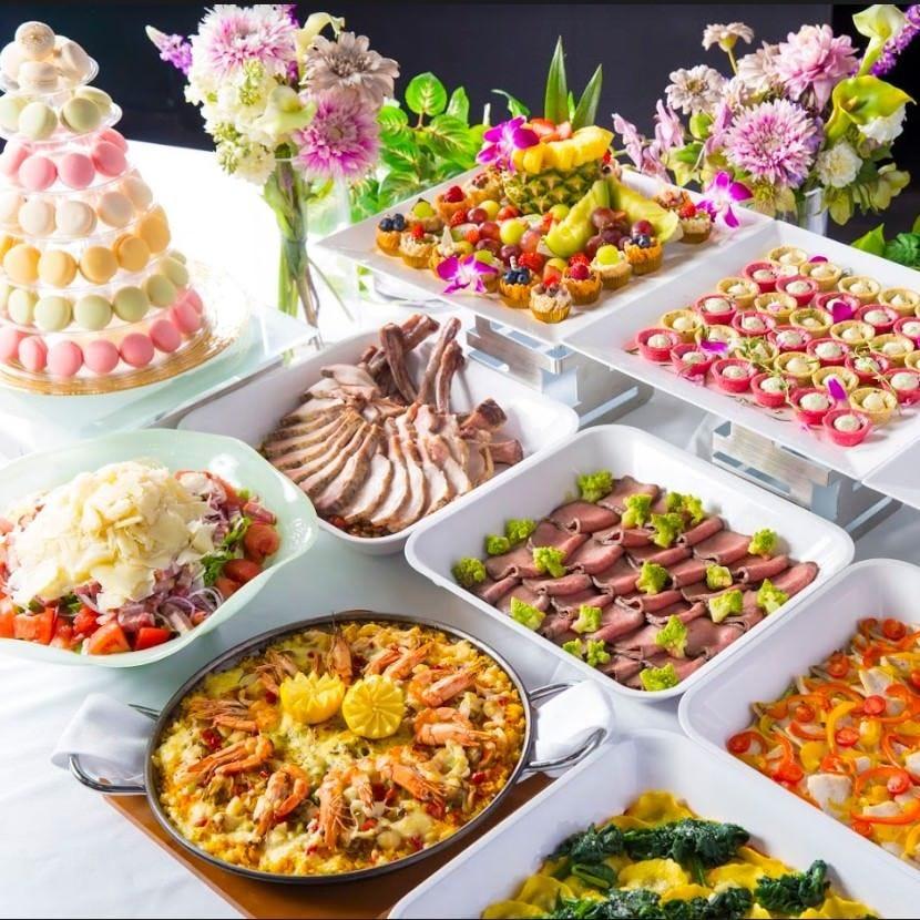 【エクセレントコース】厳選食材のビュッフェ11品+80種類のスタンダード飲み放題