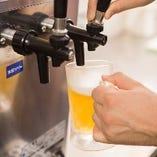 爽快感抜群のビールでまずは乾杯しませんか♪