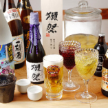 生ビール、焼酎などお酒の種類も豊富。