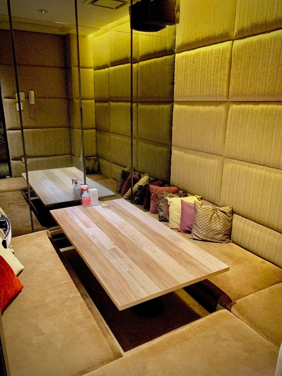 高級感溢れるプライベートな個室空間