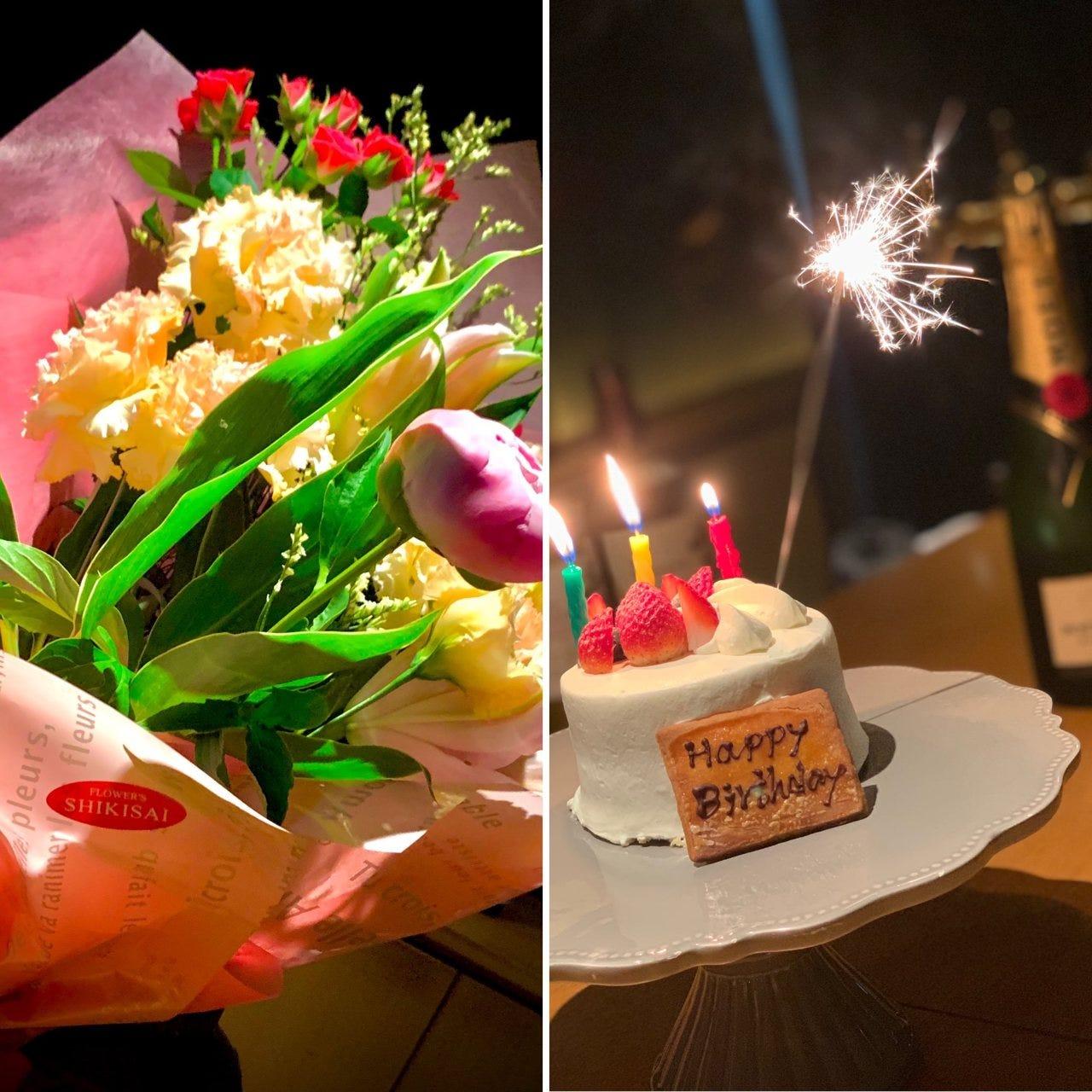 ケーキ・花束のサプライズで特別な日を演出