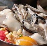 「カキオコ1,080円(税込)」カキオコとは、カキが入ったお好み焼きです。