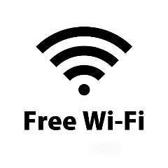 無料Wi-Fiあり。店内の9文字のパスワードをご入力下さい