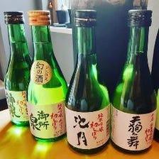 地酒や全国の日本酒が楽しめる