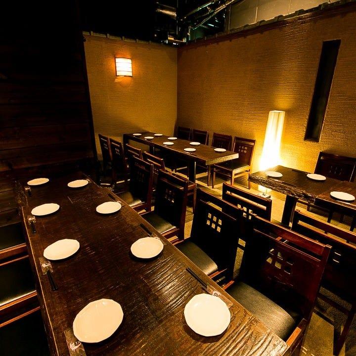 テーブル席・半個室・20名様~28名様