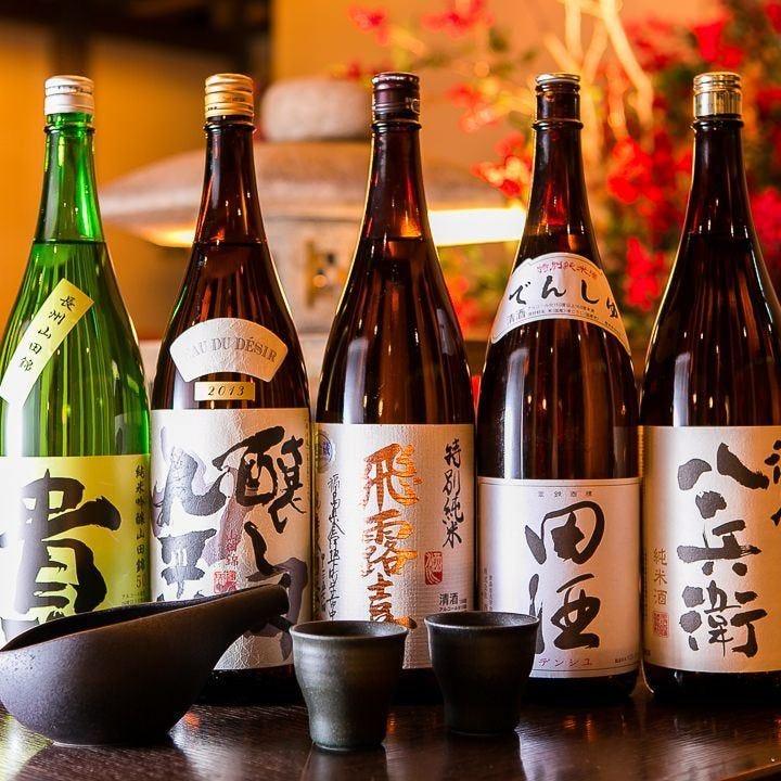 立川トップクラスの品揃え☆魚に合うお酒ももちろんご用意♪