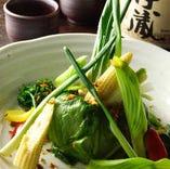 青々とした野菜は栄養満点♪
