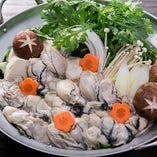 あっつあつ、プリップリの牡蠣をお鍋でご堪能くださいませ!