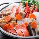 新鮮な魚介もりだくさんの鍋