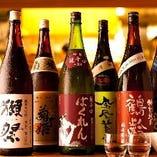 店長厳選銘酒ラインナップ。日本全国から厳選したお酒を仕入れました。