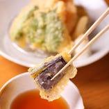 はくよ庵名物■豊川天ぷらめし。最後はお茶漬けに。
