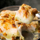 明太子ソースとチーズの旨味が好相性の『はんぺんチーズ焼き』