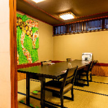 【1階】テーブル席の完全個室(通常6~15名様⇒4名様よりご利用可能に)
