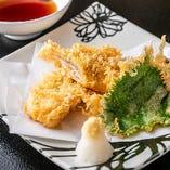 旬の食材を使用したおすすめの天ぷら