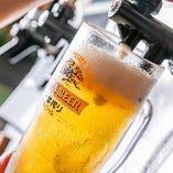 きんっきんに冷えたビールで乾杯