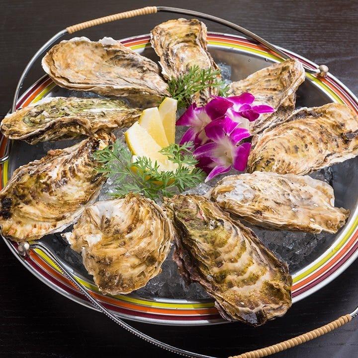 一年中食べられる生牡蠣は濃厚な味わいが日本酒&焼酎とよく合う