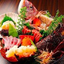 おすすめ No.3 秋田県産朝獲れ鮮魚の盛り合わせ