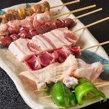 店長自ら焼き上げる『串焼き』は絶品!リピーター続出の味わいはコースでも堪能できます