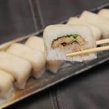 焼き穴子と千枚漬け箱寿司