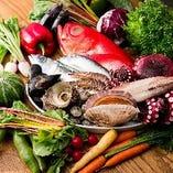 契約農場の朝採れ野菜や豊洲直送の新鮮な鮮魚【千葉県】