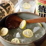 お好きな焼酎を季節の柑橘を浮かべてみんなでどうぞ!