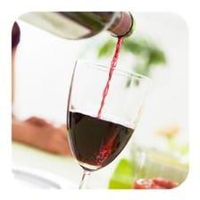 グラスから飲めるワイン日替り5種