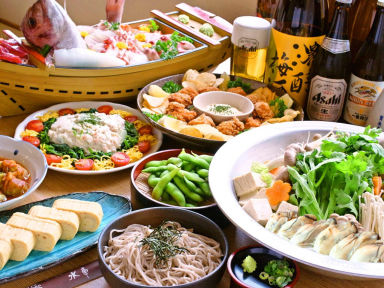 生そば食事処 水車 アクア広島バスセンター街店 店内の画像