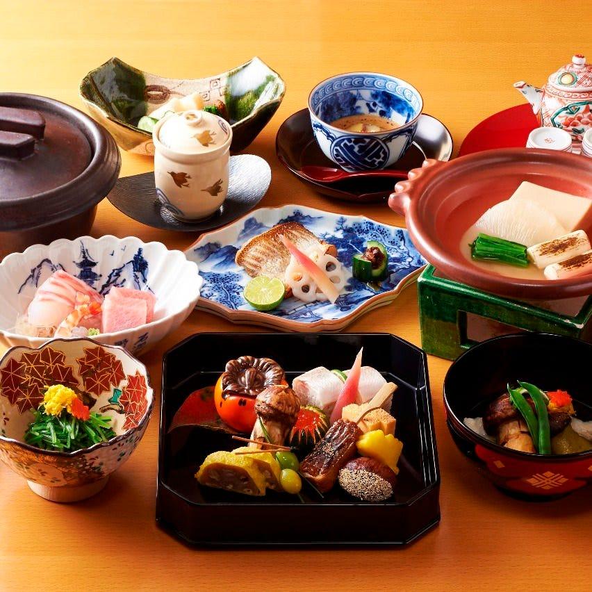 味の妙技 おすすめの懐石料理です。季節の土鍋ご飯が選べます。