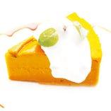 かぼちゃのケーキ/抹茶のベイクドチーズケーキ