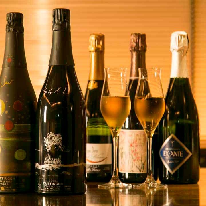 【デラックスプラス】ワイン、スパークリングワイン付き飲み放題 2時間カラオケ歌い放題個室利用